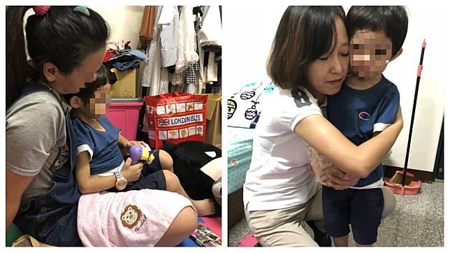 受虐男童已經安置,並且在親友的懷中安穩睡著。(圖/新竹市政府提供)
