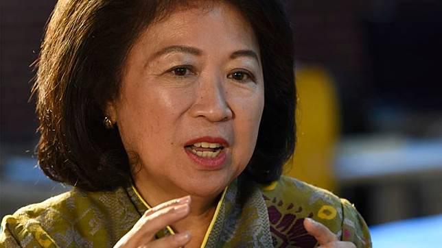 Direktur Pelaksana Bank Dunia Mari Elka Pangestu menjawab pertanyaan saat wawancara eksklusif dengan Kantor Berita Antara, Jakarta, Selasa (4/2/2020)./ANTARA - Saptono