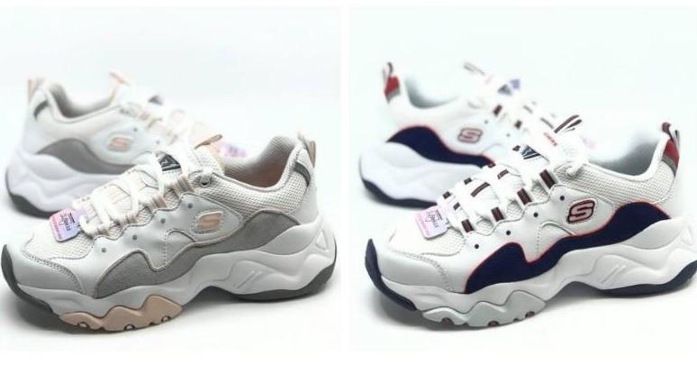 Skechers D'lites熊貓鞋,奶茶色復古又溫柔