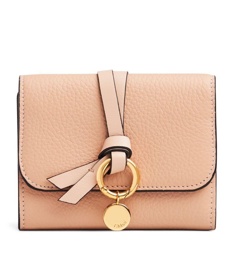 Chloé Leather Alphabet Tri-Fold Wallet