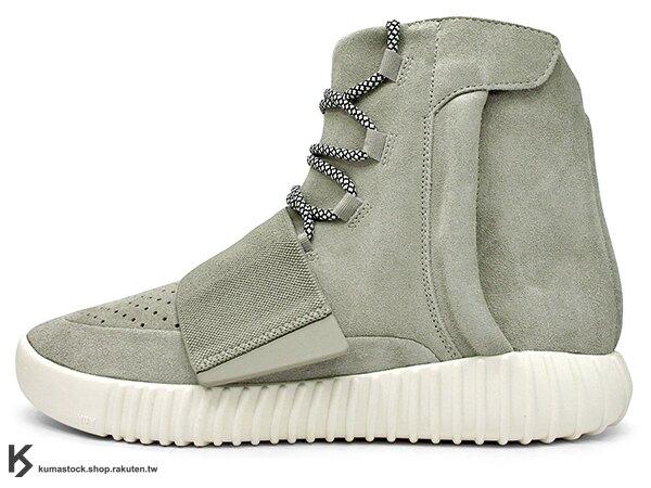 2015 限量發售 嘻哈歌手 Kanye West 設計 adidas YEEZY 750 BOOST 高筒 麂皮 灰色 黏扣帶 (B35309) !。流行男裝與男鞋人氣店家KUMASTOCK的ADI