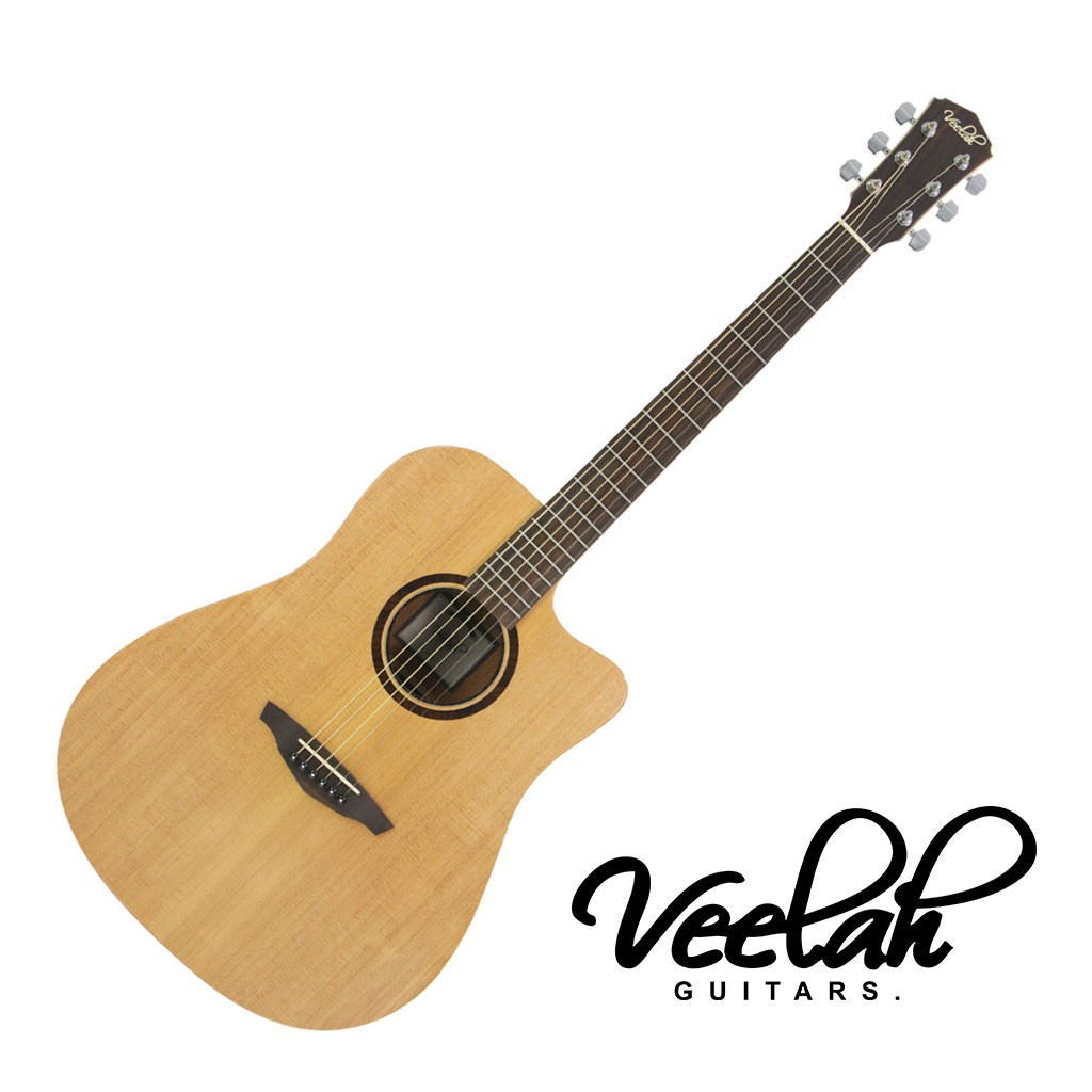 Veelah V1 DC 民謠吉他40吋 缺角 雲杉單板 - 【黃石樂器】