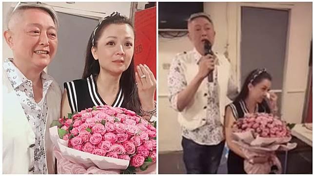 55歲資深藝人李國超日前和交往18年的50歲演員高欣欣愛情長跑18年求婚成功。圖/翻攝自兵家綺臉書