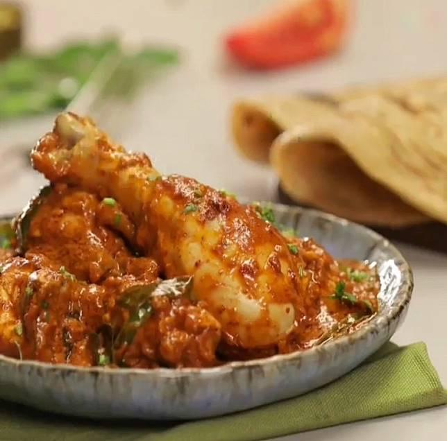 香辣惹味的印度辣雞,吃起來啖啖肉又滋味。(互聯網)