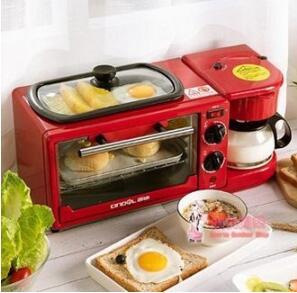 【現貨】西迪早餐機多功能四合一烤麵包片加熱家用小型全自動多士爐吐司機220V電壓 【母親節禮物】