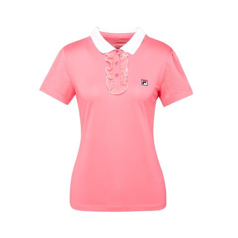 FILA 女吸排抗UV POLO衫-粉色 5POT-5008-PK