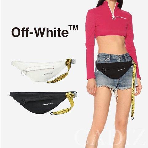 義大利正品 Off-White Denim crossbody bag中性黑白色單寧帆布腰包。人氣店家Cadiz代購精品的OFF White有最棒的商品。快到日本NO.1的Rakuten樂天市場的安全