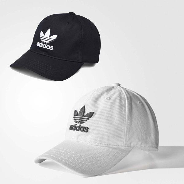愛迪達 Originals 棒球帽 百搭款 基本款黑 BK7277白 BR9720