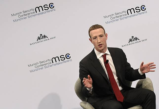 The founder and CEO of Facebook Mark Zuckerberg speaks during the 56th Munich Security Conference (MSC) in Munich, southern Germany, on Feb. 15, 2020.Civil rights activists Tuesday slammed as