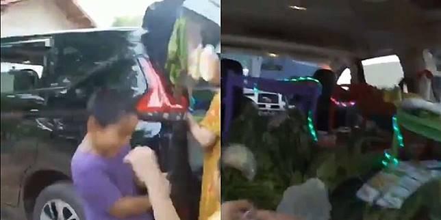 Penjual sayur pakai mobil (Twitter/ReceinAja)