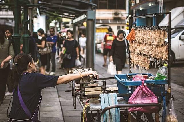 Thailand Hawker People Bangkok