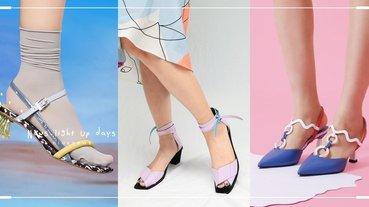滿街涼鞋你的特別美!透明水晶鞋跟、粉嫩色系,回頭率超高小眾涼鞋快收!