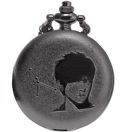 MORRIS K 十二星座復古風格懷錶-鐵灰(巨蟹)