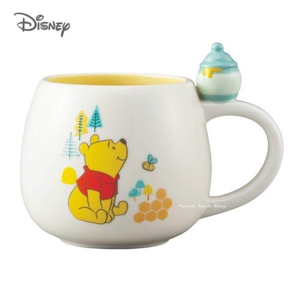 日本限定 迪士尼 小熊維尼 立體蜂蜜糖罐 馬克杯