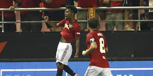 Angel Gomes Merayakan Golnya ke Gawang Tottenham Hotspur (c) Manchester United Official
