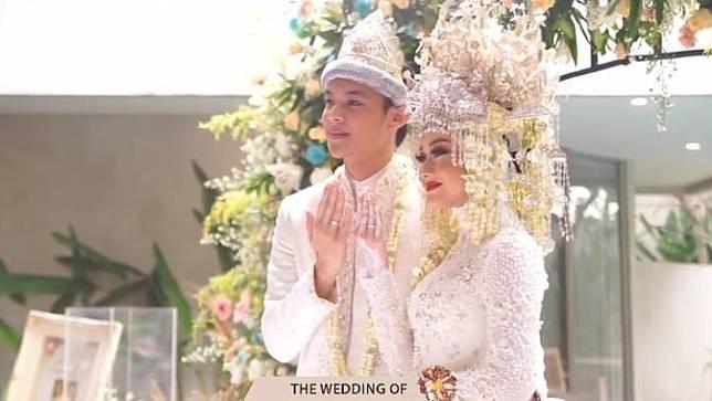 Potret Akad Nikah Dinda Hauw dan Rey Mbayang, Bernuansa Adat Palembang