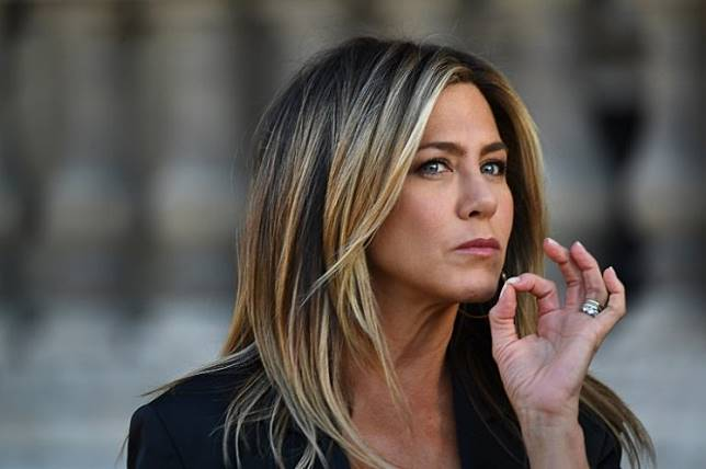 US actress Jennifer Aniston in Paris on April 11, 2017. Aniston and Adam Sandler have been named to the cast of 'Murder Mystery', a new comedy film.