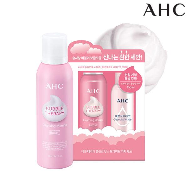 AHC棉花糖泡泡潔顏慕斯禮盒(淨白型) 附三效卸妝水 150ml+150ml 【SP嚴選家】