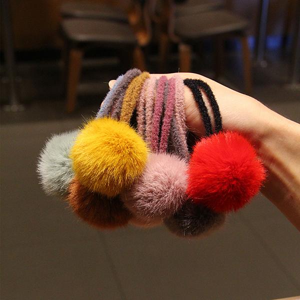 髮束內直徑約:5CM..雙圈 毛球大小約:5CM 款式如圖-實品拍攝 單位:個