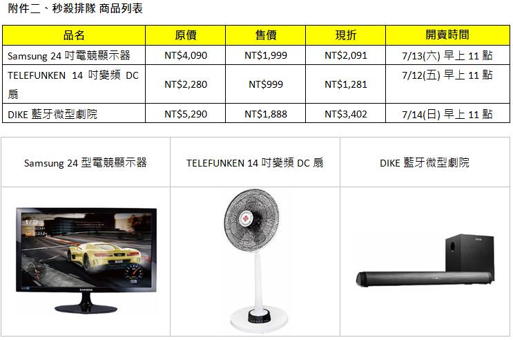 燦坤「全民購物節」,7/12 - 7/15 電視、電競產品、家電超特惠