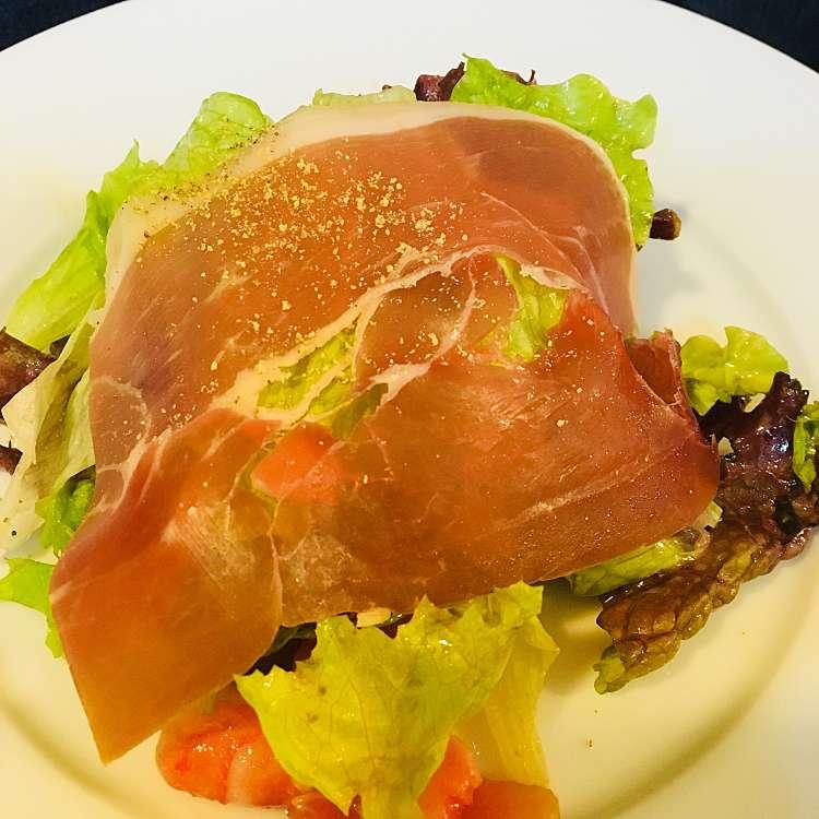 新宿区周辺で多くのユーザーに人気が高い生ハムサラダブラッスリー・グーのメニューA(前菜、主菜)の写真