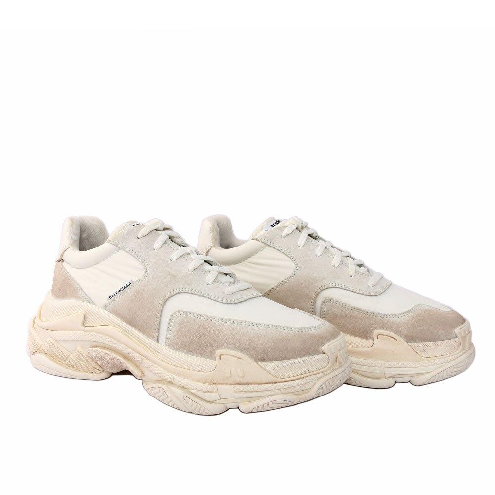 【BALENCIAGA】Triple-S Sneaker 2.0運動鞋/老爹鞋 (男款)(白色) 506346 W09T1 9000