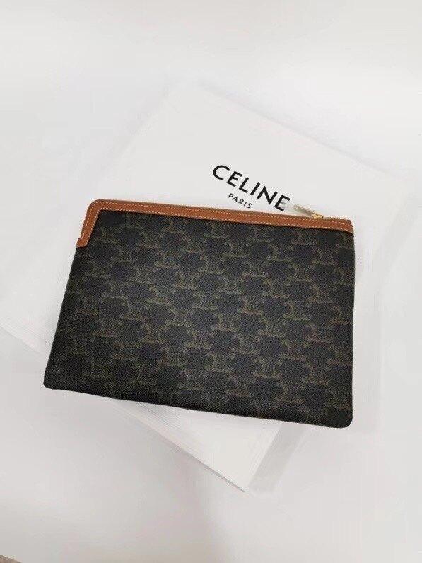 【Chiu189英歐代購】CELINE Triomphe 手包 化妝包 萬用包 老花款