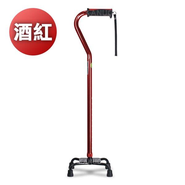 【富士康】小四腳拐杖 色彩繽紛系列 FZK-2037 酒紅色