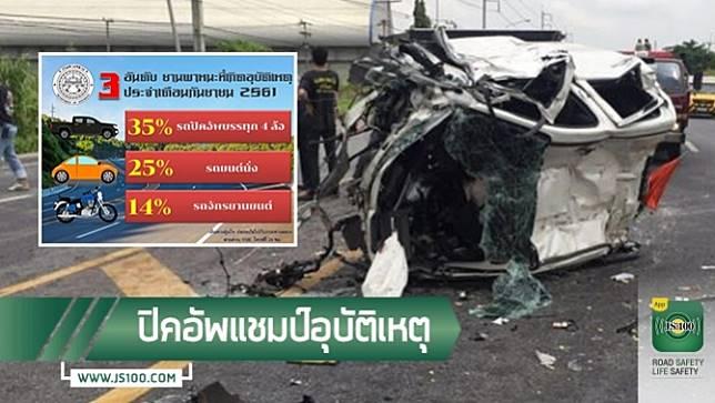 ขับรถเร็ว-หลับใน สาเหตุหลักของอุบัติเหตุบนเส้นทางหลวง ประจำเดือนกันยายน 2561