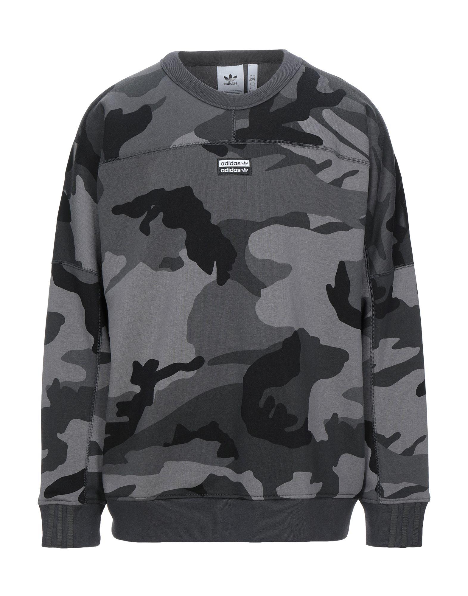 sweatshirt fleece, contrasting applications, logo, camouflage, round collar, long sleeves, no pocket