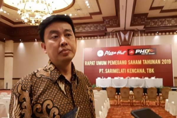 Direktur PT Sarimelati Kencana Tbk. Jeo Sasantousai rapat umum pemegang saham pada Rabu (24/4/2019)./Bisnis-Azizah Nur Alfi