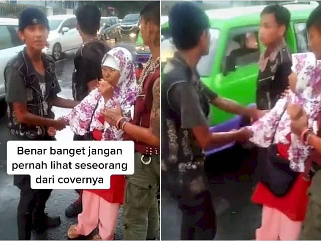 Viral Anak Punk Bantu Emak-Emak Jatuh dari Angkot,  Netizen: Kalian Keren!
