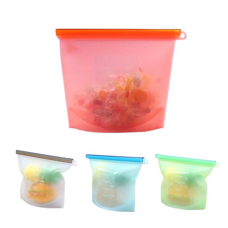 SGS認證 矽膠保鮮密封袋 矽膠保鮮袋 真空保鮮袋 矽膠袋 密封袋 食物袋 保鮮袋 收納袋【台灣現貨 A091】