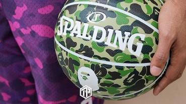 A BATHING APE® x Spalding 推出極具收藏價值的迷彩籃球!