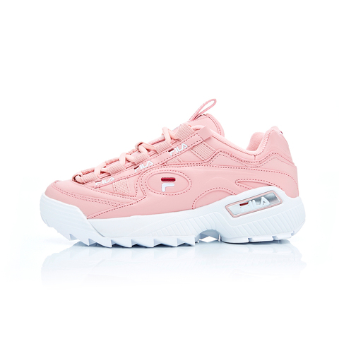 FILA D-FORMATION 女復古運動鞋(鋸齒鞋/老爹鞋)-粉/白 5-C110T-662