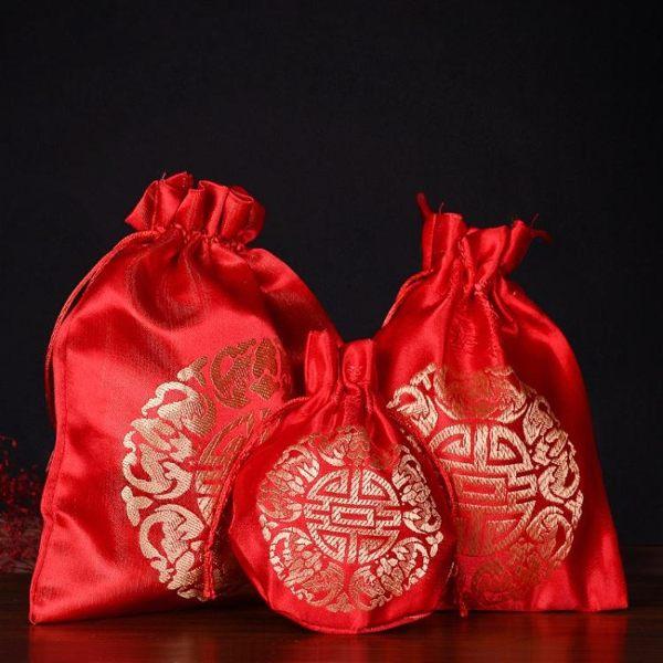 中國風喜糖盒抽繩