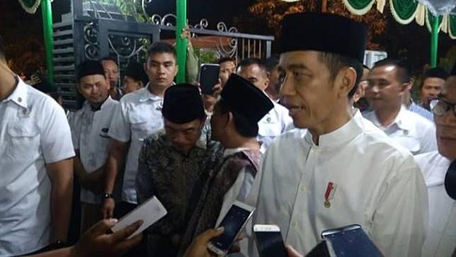 Presiden Jokowi di Pondok Pesantren Girikusumo Demak. ©2018 Merdeka.com/Danny Adriadhi Utama