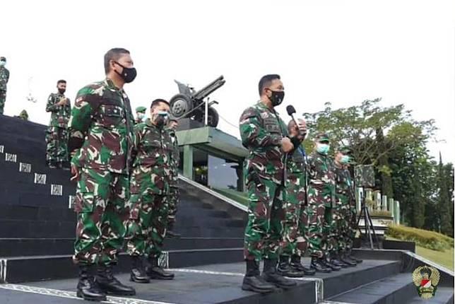 Kepala Staf Angkatan Darat (KSAD) Jenderal Andika Perkasa di Secapa AD. (Foto Ist).