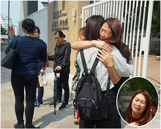 男學生的母親認屍後情緒激動嚎哭。歐陽偉光攝