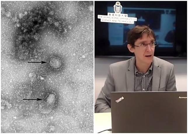Mckay(右)的團隊研究發現,沙士病毒的B細胞及T細胞抗原表位與新冠肺炎相似。