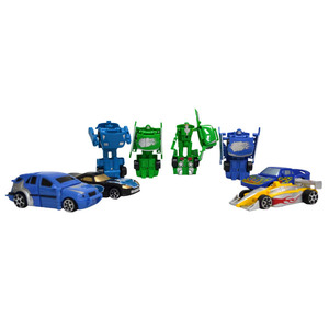 ◆多款造型變形機器人 ◆可組合成跑車◆親子朋友同樂最佳玩具