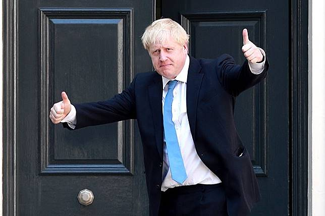 Boris Johnson outside the Conservative Leadership Headquarters on July 23.