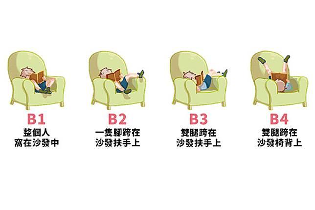 ▲最喜歡哪個坐姿?一秒測出你「最吸引人的特點」。(圖/翻攝自美日誌)