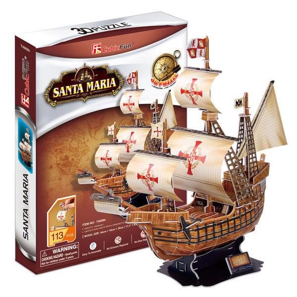 3D Puzzle 立體拼圖 古船系列-義大利聖瑪莉亞號