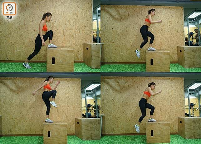 Plyo Lunges Steps Up(胡振文攝)