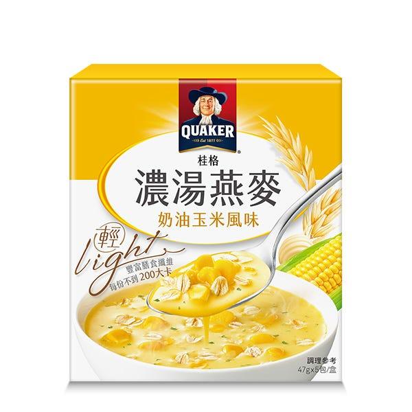 桂格濃湯燕麥-奶油玉米風味-47gx5