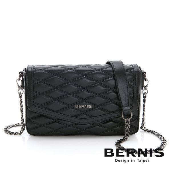 BERNIS貝爾尼斯 手工繡線小羊皮 掀蓋式小香包 BNA18042-BK