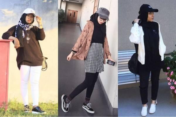 10 Inspirasi Ootd Hijab Pakai Topi Gaya Kekinian Kece Maksimal