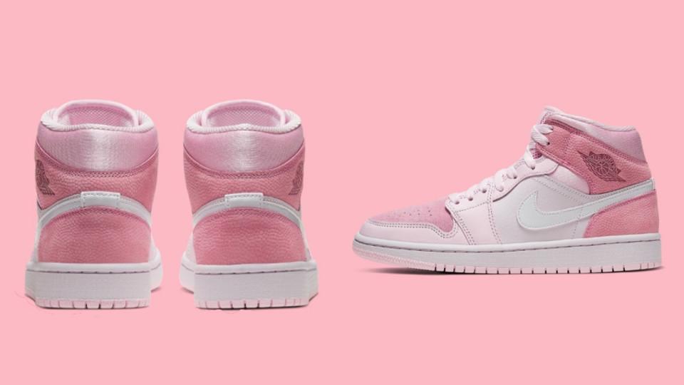 NIKE Air Jordan 1 Mid Digital Pink莓果粉