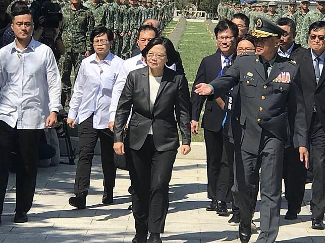 照片:蔡英文總統今出席「823六十一週年中樞紀念儀式」